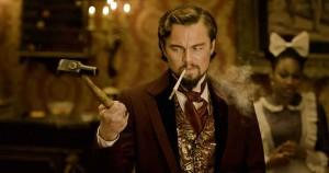 django_unchained-Leonardo Di Caprio with Hammer